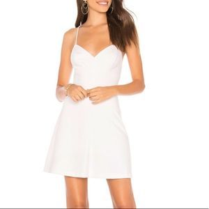 Amanda Uprichard White Toni Bodycon Mini Dress